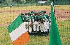 Irish team huddle