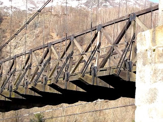 Suspension Bridge at Morca - Detail