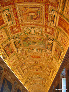 Ceiling of corridor at Vatican Museum