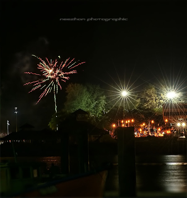 fireworks on Merdeka night in Terengganu
