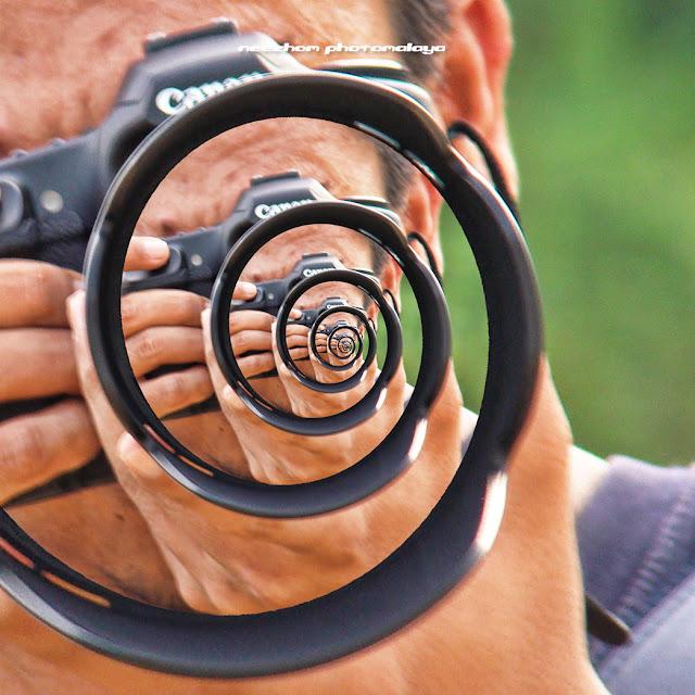 Fractal Droste effect - single spiral