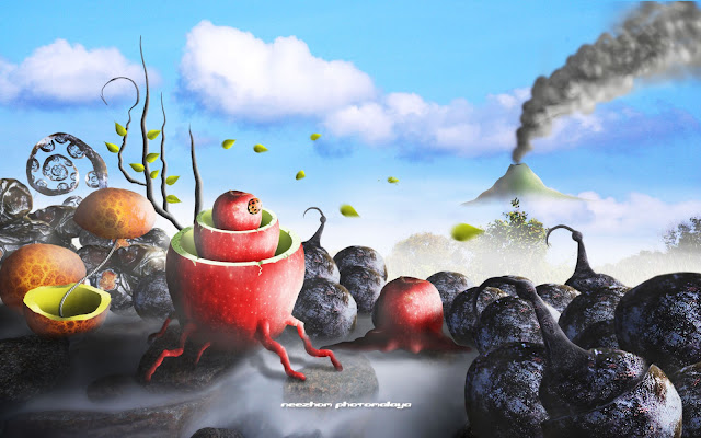 weird fruits photo manipulation