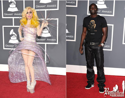 Lady Gaga and Akon @ Grammy Awards 2010
