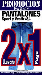 PROMOCION 2 X 1 EN PANTALONES SPORT Y VESTIR - ac125aba86943