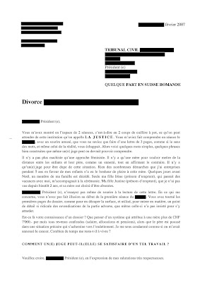 sample cover letter exemple de lettre de t moignage divorce. Black Bedroom Furniture Sets. Home Design Ideas