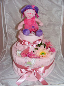 Two Tier Baby Girl Nappy Cake £25