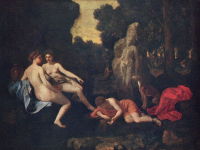 matters arising tiresias narcissus and echo poussin painted two versions of the story the earlier above left from around 1630 is now in the louvre while the later above right is in dresden s