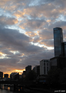 melbourne sunset