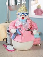 christmas snowwoman hairstylist