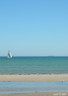 sailboat in the blue