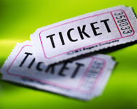 things that i love... tickets... and that particular colour of green