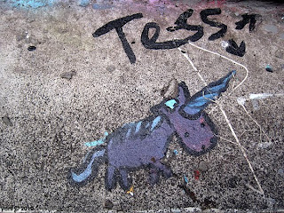 footpath unicorn by tess