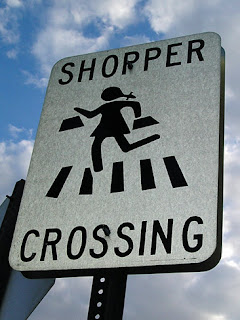 shopper crossing