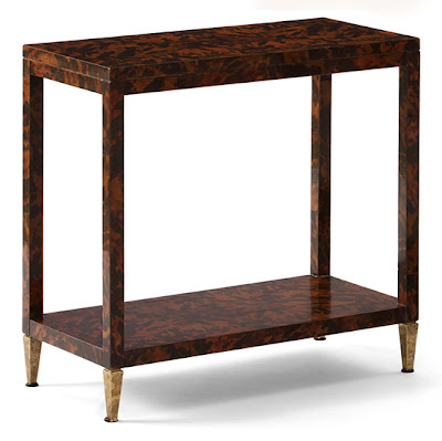 Mannerofstyle faux tortoise shell brings back 1960 39 s cool for Cool side tables