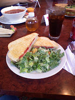 Sam's Lunch: Paninni and salad