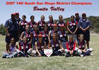 Bonita Valley 2007 District Champions