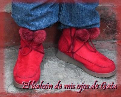 mis botas rojas