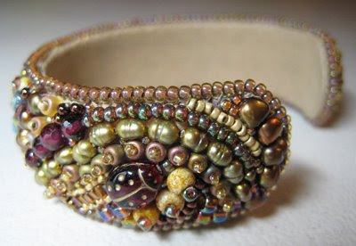 "Copious: ""Skies over Tucson"" Bead Embroidered Bracelet"