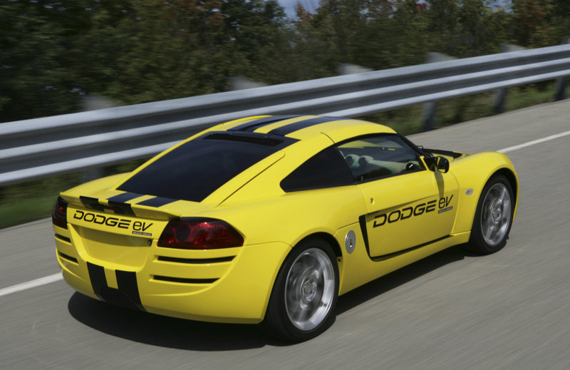 The Dodge EV development Electric Vehicle is a two-passenger,