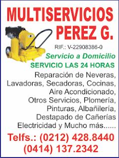 MULTISERVICIOS PEREZ G. en Paginas Amarillas tu guia Comercial