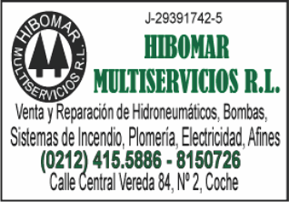 HIBOMAR MULTISERVICIOS, S.R.L. en Paginas Amarillas tu guia Comercial