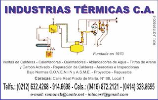 INDUSTRIAS T�RMICAS C.A.  en Paginas Amarillas tu guia Comercial