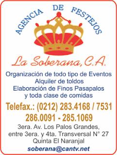 AGENCIA DE FESTEJOS LA SOBERANA, C.A. en Paginas Amarillas tu guia Comercial