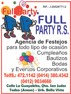 FULL PARTY R.S. en Paginas Amarillas tu guia Comercial