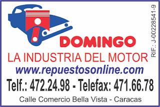 DOMINGO LA INDUSTRIA DEL MOTOR en Paginas Amarillas tu guia Comercial