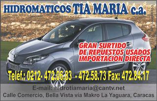 HIDROM�TICOS TIA MARIA, C.A. en Paginas Amarillas tu guia Comercial
