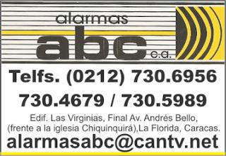 ALARMAS ABC, C.A. en Paginas Amarillas tu guia Comercial