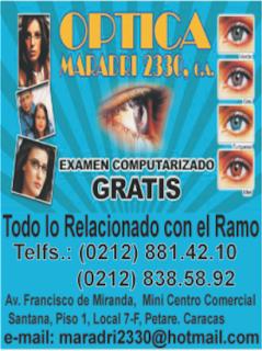 OPTICA MARADRI 2330 C.A. en Paginas Amarillas tu guia Comercial