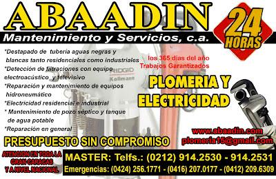 ABAADIN MANTENIMIENTO Y SERVICIOS, C.A. en Paginas Amarillas tu guia Comercial