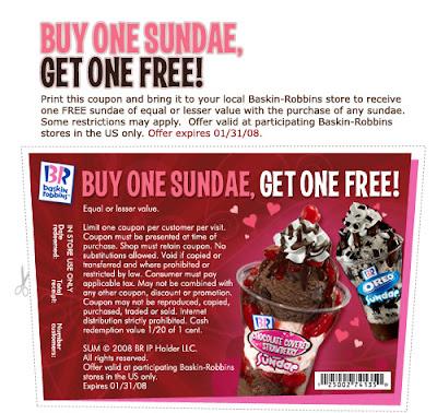 Buy One Sundae Get One FREE