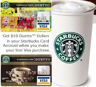 Starbucks Duetto Visa Credit Card