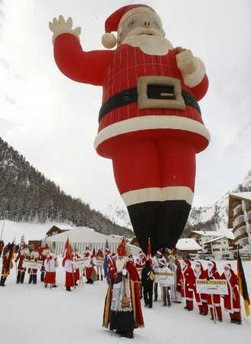 Hot air balloon Santa