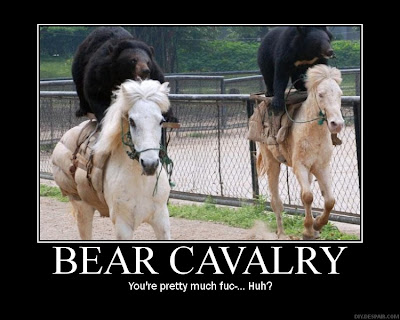 Bear Cavalry Demotivational Poster