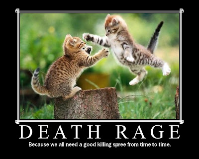 Death Rage Demotivational Poster