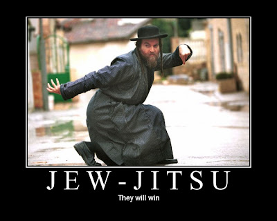 Jew-jitsu Demotivational Poster