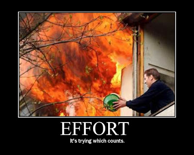 Effort Demotivational Poster