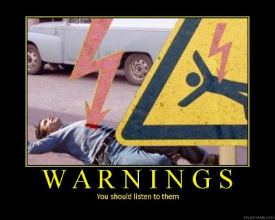 Warnings Demotivational Poster