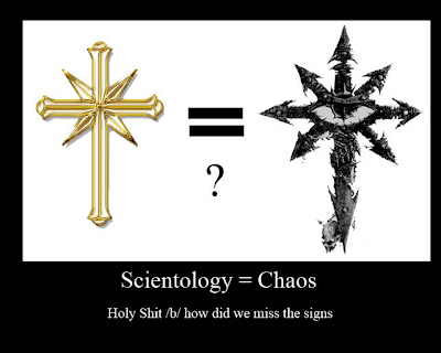 Scientology = Chaos Demotivational Poster