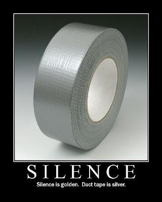 Silence Demotivational Poster