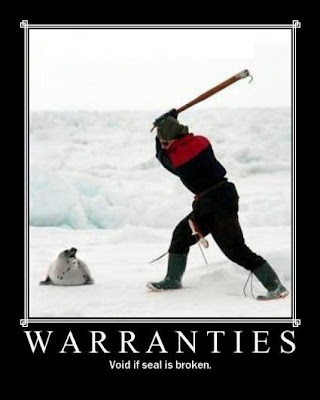 Warranties Demotivational Poster