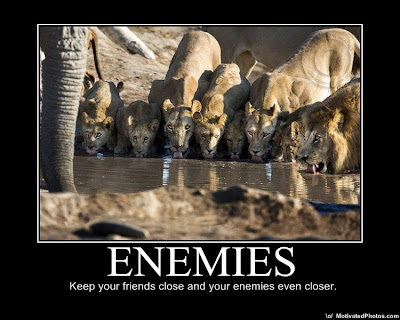 Enemies Demotivational Poster