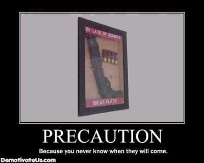 Precaution Demotivational Poster