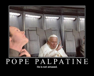 Pope Palpatine Demotivational Poster