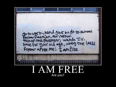 I Am Free Demotivational Poster