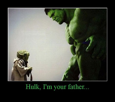 Hulk I'm Your Father Demotivational Poster
