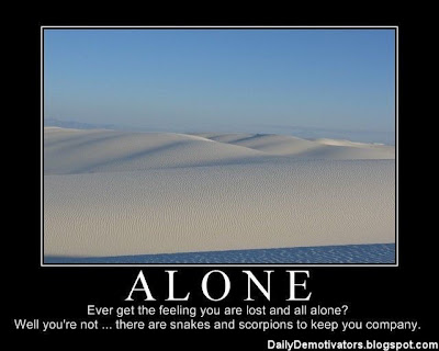Alone Demotivational Poster